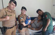 PMs da Patrulha Escolar ajudam em  parto de bebê em Cambe .