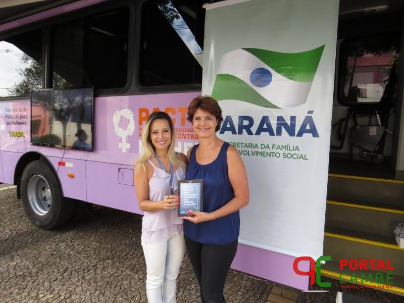 Ônibus lilás passa por Cambé para o atendimento às mulheres