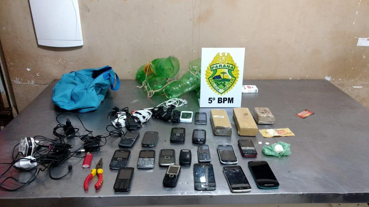 Polícia Militar impede mais uma vez arremesso de kits para dentro da cadeia de Cambé