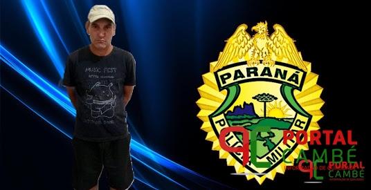 Polícia Militar prende homem com mandado de prisão no Centro de Cambé