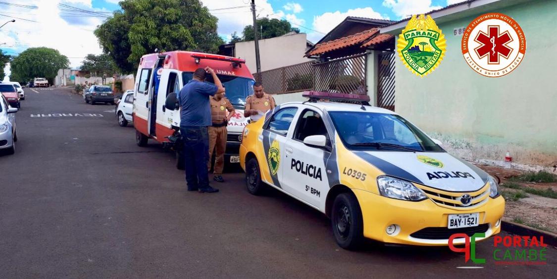 Rapaz é agredido por golpes de faca no Jardim Ana Rosa em Cambé