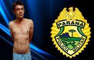 Polícia Militar cumpre mandado de prisão por tráfico de drogas no Jardim Ana Rosa em Cambé