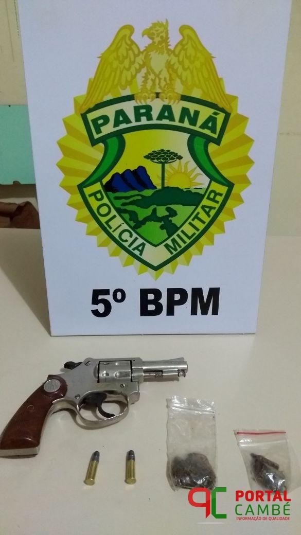 Menor é apreendido com arma de fogo no Jardim Tupi em Cambé