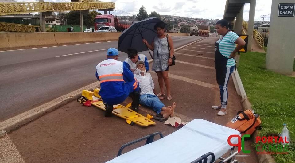 Idoso de 75 anos é atropelado embaixo de passarela em rodovia
