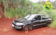 Veículo furtado e depenado é encontrado abandonado próximo ao Motel Tróia em Cambé
