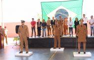 Troca de comando: Tenente Luana Pereira da Silva assume o comando do Corpo de Bombeiros de Cambé