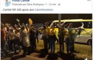 Moradores de Cambé e região fazem manifestação em apoio aos caminhoneiros na BR 369