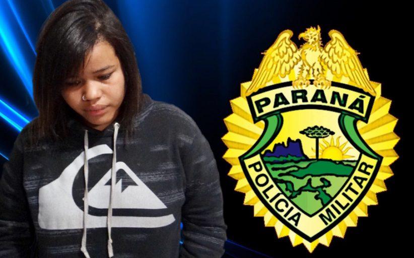 Polícia Militar prende moça suspeita de trafico de drogas no Jardim Boa Vista em Cambé